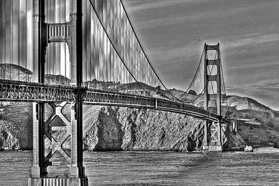 Photograph - Golden Gate Bridge Over The Bay 2 by SC Heffner
