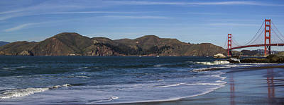 Golden Gate Bridge Panorama Art Print by Brad Scott