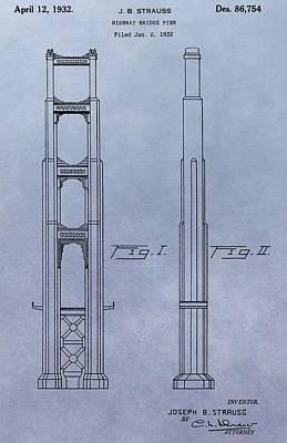 Golden Gate Bridge Patent Art Print