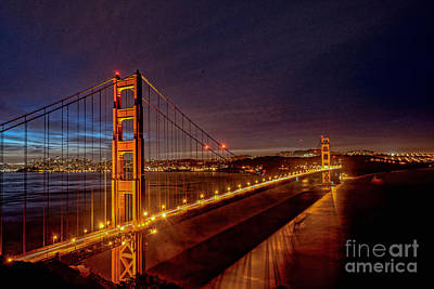 Golden Gate Bridge Art Print by Peter Dang