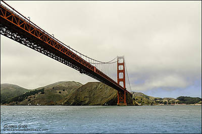 Photograph - Golden Gate Bridge San Francisco Bay    by LeeAnn McLaneGoetz McLaneGoetzStudioLLCcom