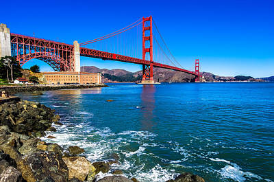Photograph - Golden Gate Bridge San Francisco Bay by Scott McGuire