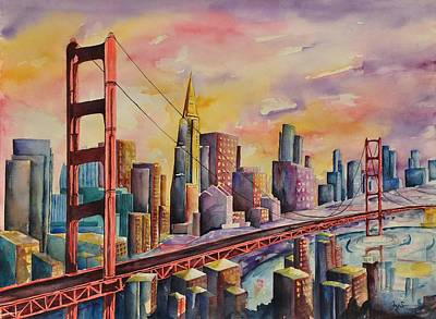 Golden Gate Bridge - San Francisco Art Print by Joy Skinner