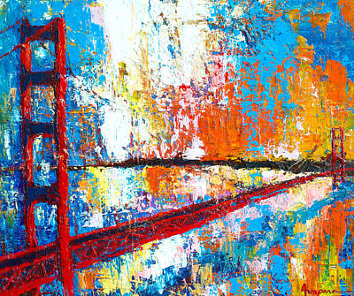 Painting - Golden Gate Bridge San Francisco by Patricia Awapara