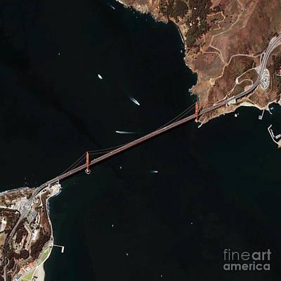 Ikonos Satellite Photograph - Golden Gate Bridge, Satellite Image by GeoEye