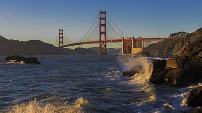 Photograph - Golden Gate Bridge Sunset Study 2 by Scott Campbell