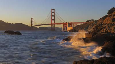 Photograph - Golden Gate Bridge Sunset Study 3 by Scott Campbell
