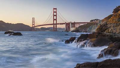Photograph - Golden Gate Bridge Sunset Study 5 by Scott Campbell