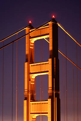 Photograph - Golden Gate Bridge Tower by Daniel Woodrum