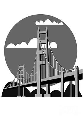 Golden Gate Bridge - Vector Print by Michal Boubin