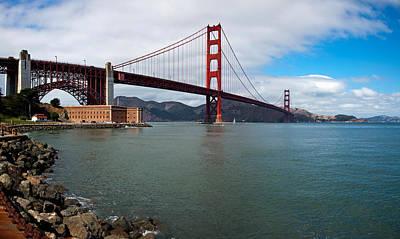 Golden Gate Bridge Viewed From Marine Art Print