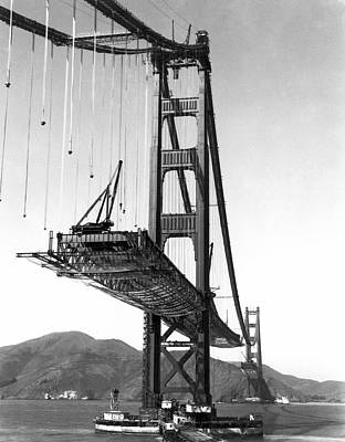 Golden Gate Bridge Work Art Print by Underwood Archives