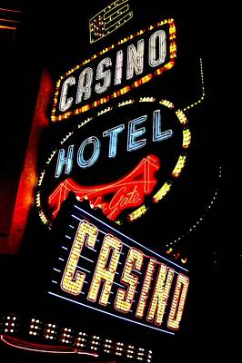 Photograph - Golden Gate Casino by Benjamin Yeager