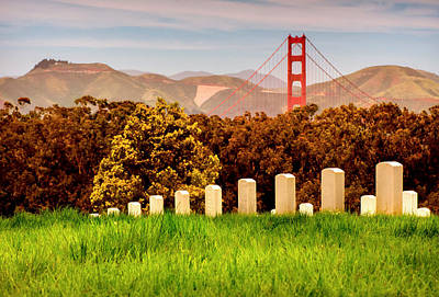 Photograph - Golden Gate Cemetery by Kyle Simpson