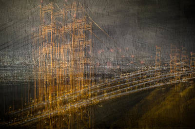 Photograph - Golden Gate Chaos by Linda Villers