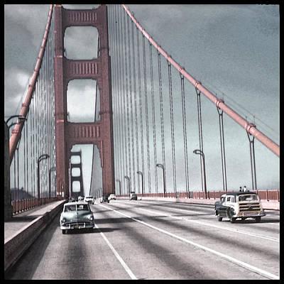 Golden Gate Crossing Art Print by Eric  Bjerke Sr