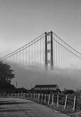 Photograph - Golden Gate Fog by Michael Hope