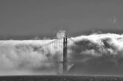 Photograph - Golden Gate Fog by Spencer Hughes