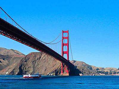 Photograph - Golden Gate From Boat by Robert Meyers-Lussier