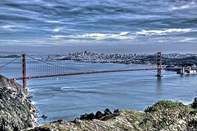 Photograph - Golden Gate From Marin Headlands by SC Heffner