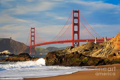 Golden Gate From The Beach Art Print