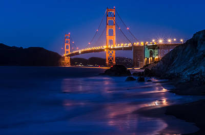 Photograph - Golden Gate Glow by Linda Villers