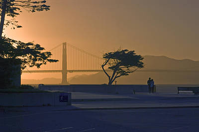 Photograph - Golden Gate Gold by Gene Norris