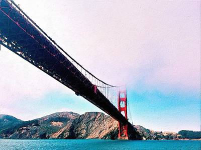 Painting - Golden Gate In The Clouds by Florian Rodarte