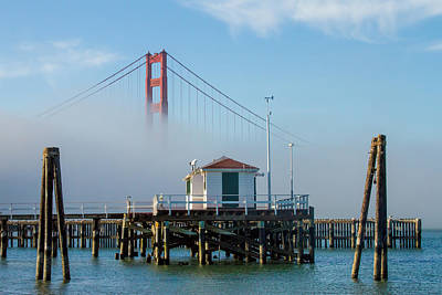 Golden Gate In The Fog Art Print by Bill Gallagher