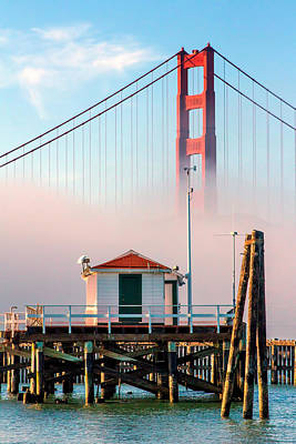 Photograph - Golden Gate In The Fog II by Bill Gallagher