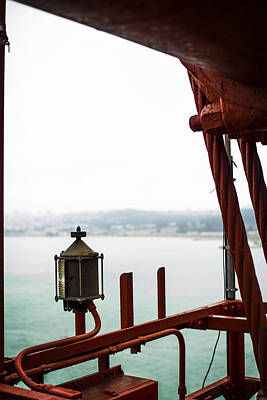 Golden Gate Lantern Art Print by SFPhotoStore