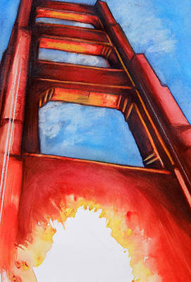 Painting - Golden Gate Light by Rene Capone