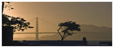 Photograph - Golden Gate Lovers by Gene Norris