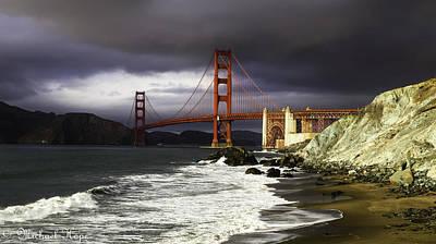 Photograph - Golden Gate Marshall Beach by Michael Hope
