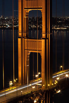 Photograph - Golden Gate North Tower by Mike Lee