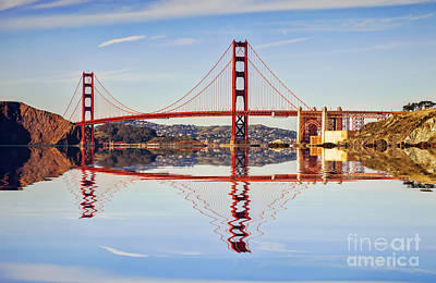 Photograph - Golden Gate Reflection by Colin and Linda McKie