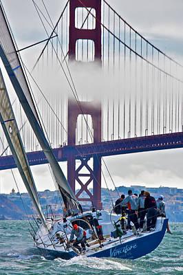 Photograph - Golden Gate Sails by Steven Lapkin