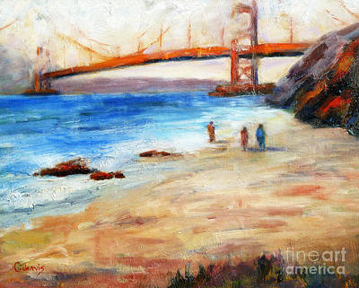 Painting - Golden Gate Stroll by Carolyn Jarvis