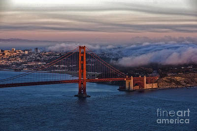 Photograph - Golden Gate Sunset by Eric Wiles
