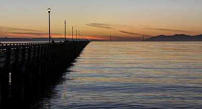 Photograph - Golden Gate Sunset From Berkeley Marina by Loree Johnson