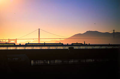 Photograph - Golden Gate Sunset by Jeremy Herman
