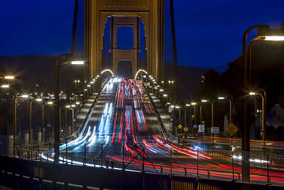 Photograph - Golden Gate Traffic by Dave Cleaveland