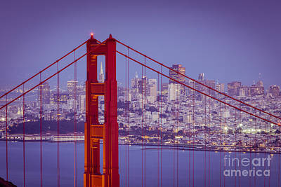 Photograph - Golden Gate Twilight by Brian Jannsen