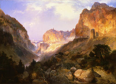 Park Scene Painting - Golden Gate Yellowstone National Park by Thomas Moran
