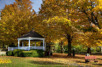 Quiet Photograph - Golden Gazebo by Donna Doherty