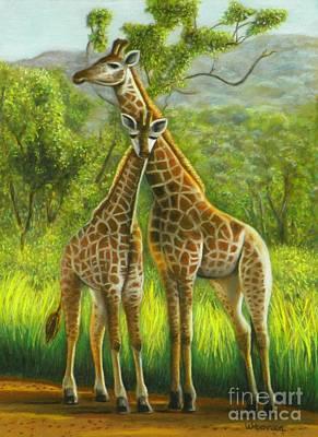 Golden Giraffe Morning Original