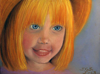 Art Print featuring the painting Golden Girl by Janet Greer Sammons