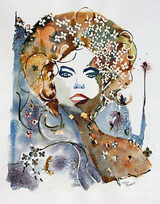 Painting - Golden Girl by Mona Mansour Jandali