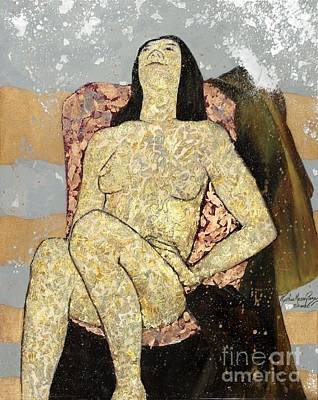 Golden Girl Reclining Art Print