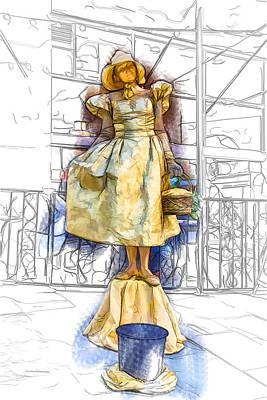 Mixed Media - Golden Girl Statue by John Haldane